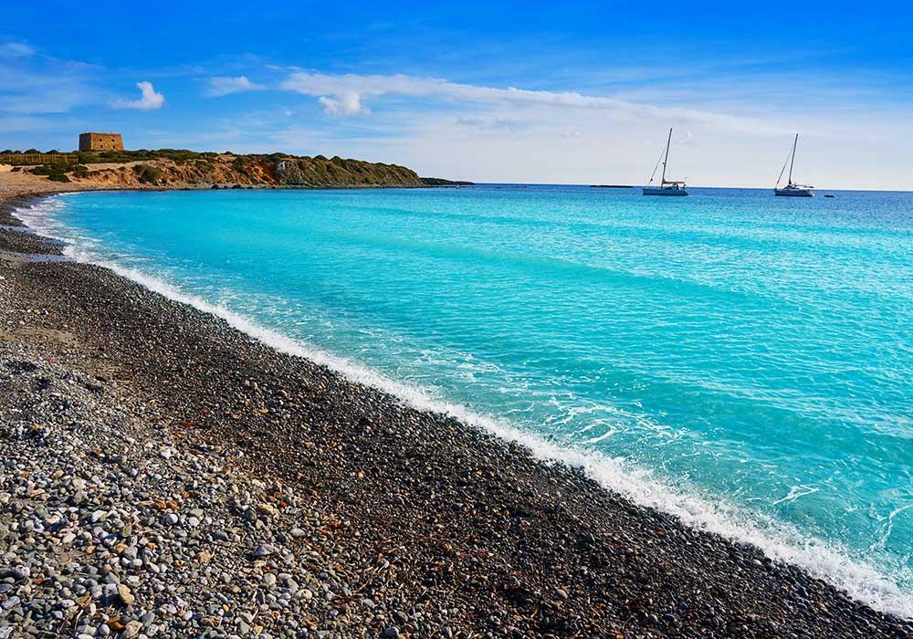 nova tabarca stranden på tabarca øyen utenfor aliacnte