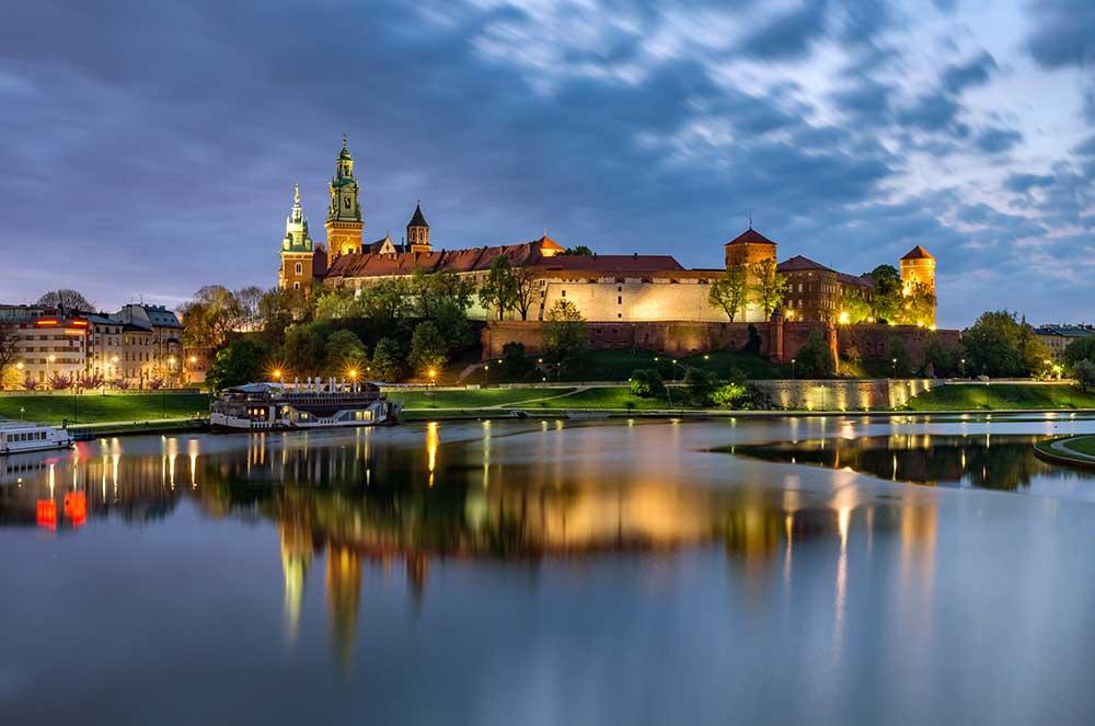 Wawel-slottet i Kraków
