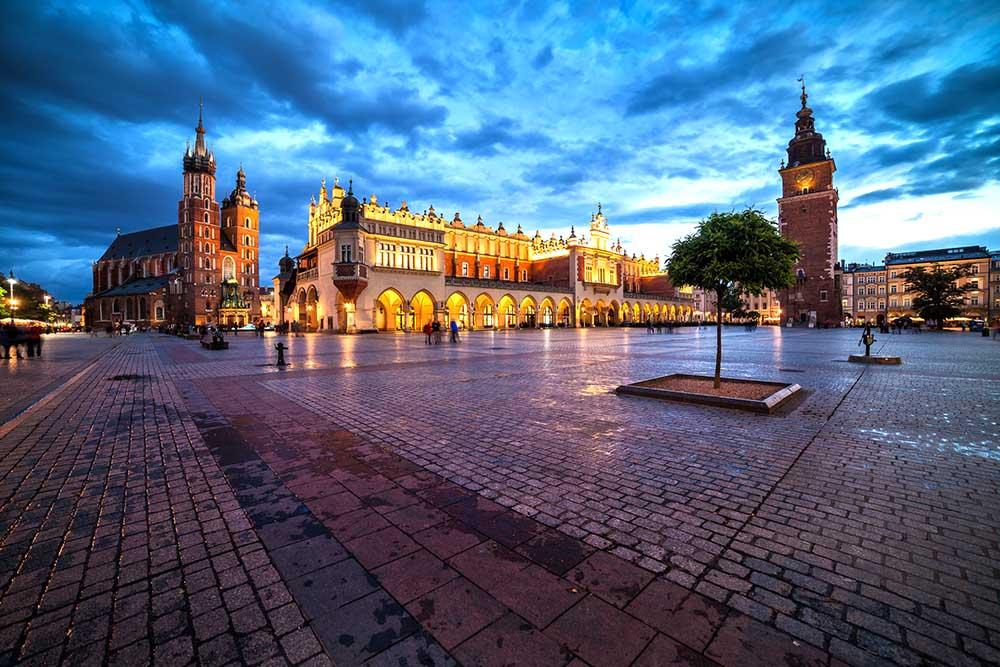 det gamle bytorget i krakow
