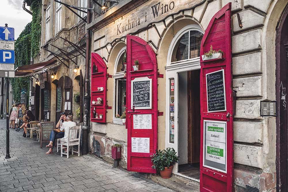 restaurant i det gamle jødiske distriktet Kazimierz i krakow