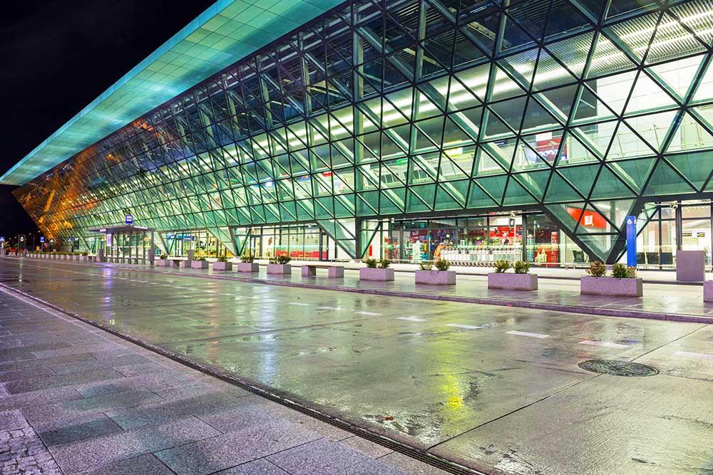 Johannes Paul 2 flyplassen i krakow