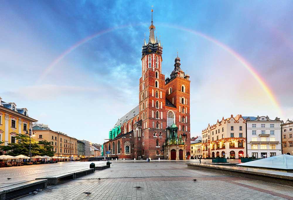 torget i gamlebyen i krakow