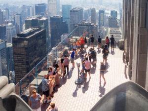utsikt fra rockefeller center over new york