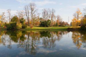 Bois de Boulogne parken i paris