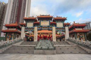 wong tai sin tempel i hong kong