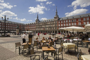 Plaza Mayor severdighet i madrid