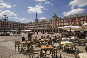 Plaza Mayor severdighet i madrid