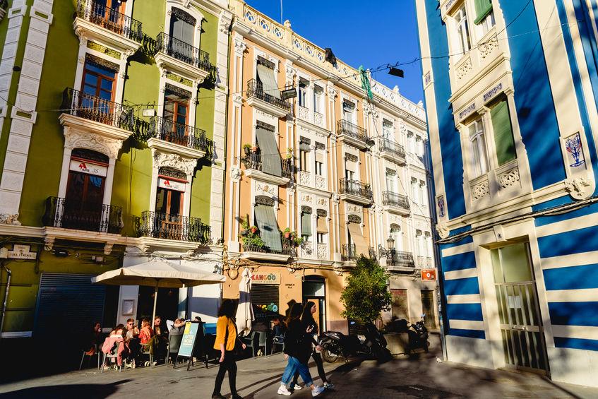 Ruzafa distriktet i valencia