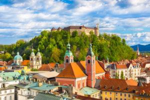 slottet Ljubljanski grad i ljubljana slovenia