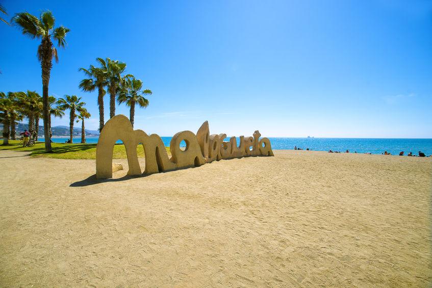 Playa Malagueta stranden i malaga