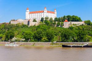 Bratislavsky Hrad slottet i bratislava
