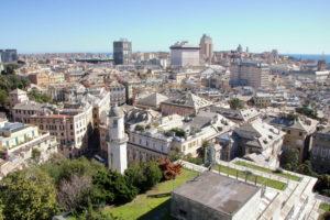 Spianata Castelletto utsikt over genova