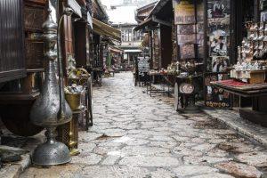 gamlebyen Bascarsija i sarajevo