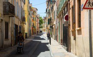 Araberkvarteret i gamlebyen av perpignan