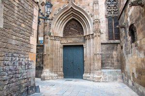 Barri Gotic distriktet i barcelona - kjent severdighet