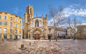 Cathédrale Saint-Sauveur d'Aix-en-Provence - katedralen i aix
