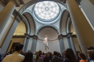 Galleria dell'Accademia - david statuen av michelangelo