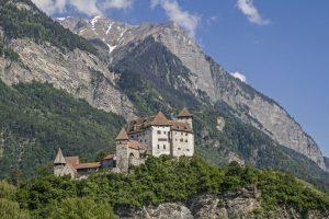 Gutenberg-slottet i Liechtenstein