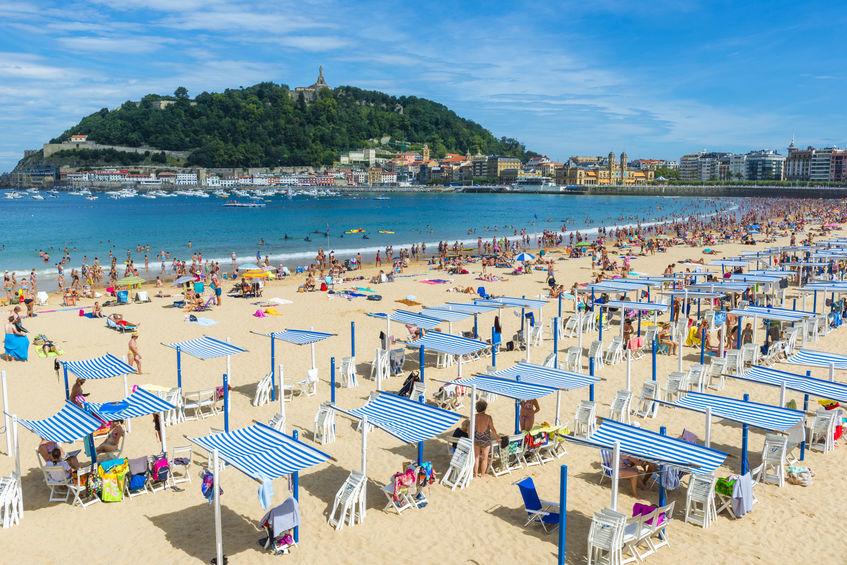 La Concha stranden i san sebastian