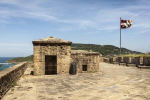 La Mota festningen på toppen av monte urgull i san sebastian