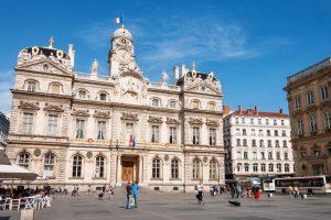 Place des Terreaux torget i lyon