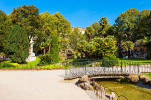 Plaza de Guipuzkoa parken i san sebastian