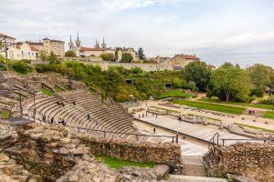Théâtre antique de Lyon - gammelt romersk amfiteater i lyon