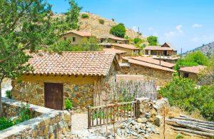 fjellandsbyen Fikardou på kypros