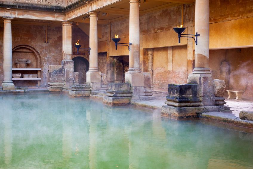 romersk bad i bath england