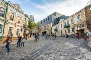 Andriyivsky Uzviz gaten i kiev
