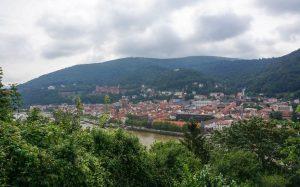 utsikt over heidelberg fra Philosophenweg