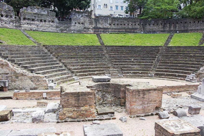 romersk amfiteater i trieste