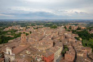 utsikt over siena fra Torre del Mangia