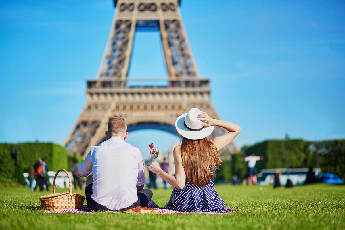 romantisk tur til paris