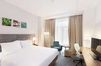 bilde fra hotellrom hos et av de beste hotellene i bucuresti