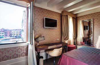 utsikt fra flott hotell i venezia