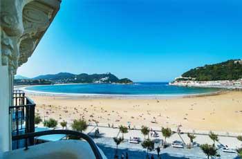 hotell ved stranden i san sebastian